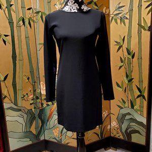 Theory Black Knit Longsleeve Sheath Dress